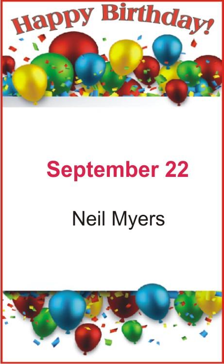 Happy birthday to Myers