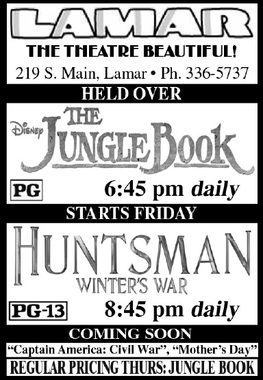 Lamar Theatre Ad - May 13, 2016