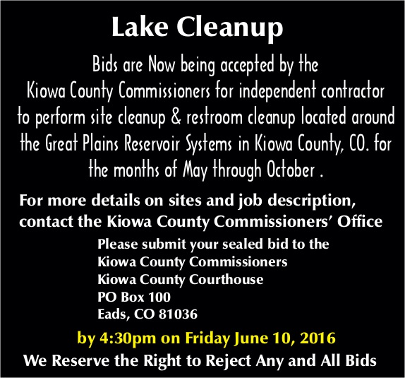 Lake Cleanup Bids Accepted until June 10