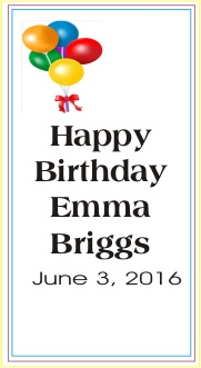 Happy Birthday Emma Briggs