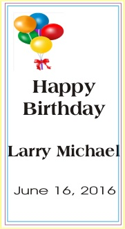 Happy Birthday Larry Michael