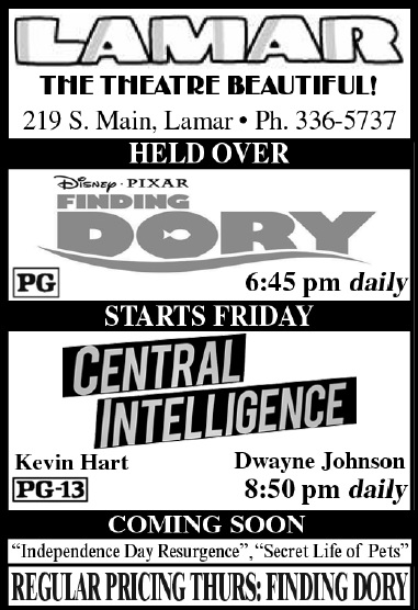Lamar Theatre Ad - July 15, 2016