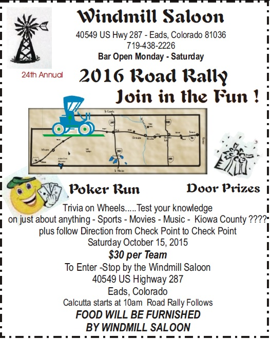 2016 Kiowa County Road Rally