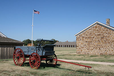 Historic Wagon at Fort Larned. NPS Photo