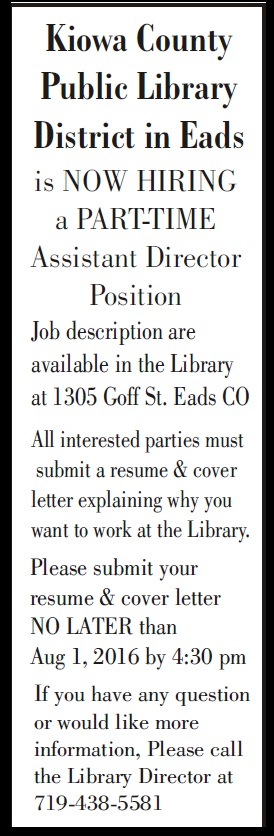 Help Wanted - Library Assistant