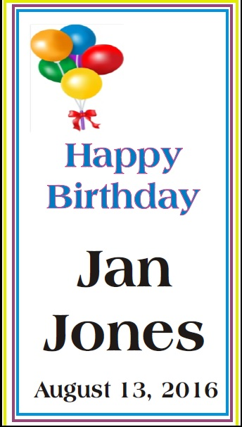 Happy Birthday to Jan Jones