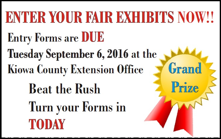 Kiowa County Fair Entries