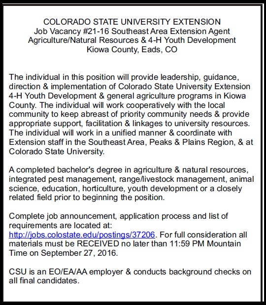 CSU Extension Hiring