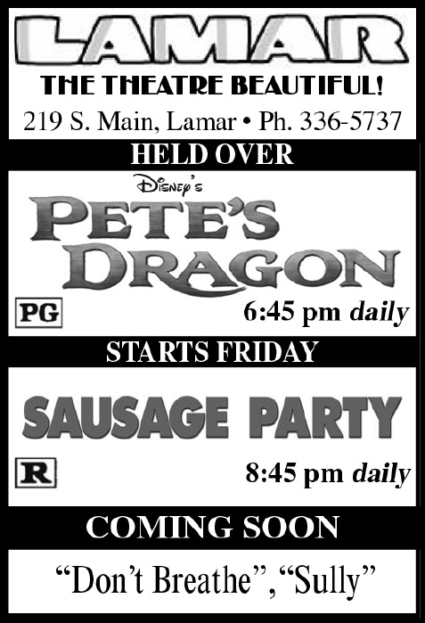 Lamar Theatre Ad - September 16, 2016