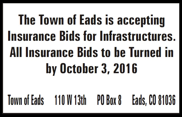 Town of Eads Accepting Bids