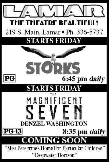 Lamar Theatre Ad - October 7, 2016