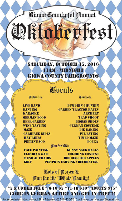 Oktoberfest in Kiowa County