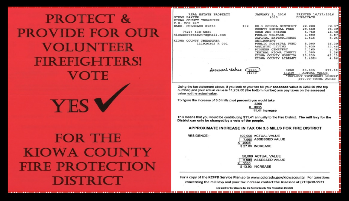 ADV - Vote YES for the Kiowa County Fire Protection District