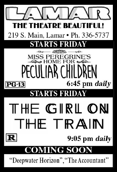 Lamar Theatre Ad - October 21, 2016