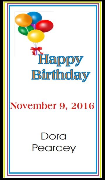 Happy Birthday to Dora Pearcey