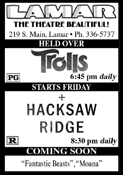 Lamar Theatre Ad - December 2, 2016