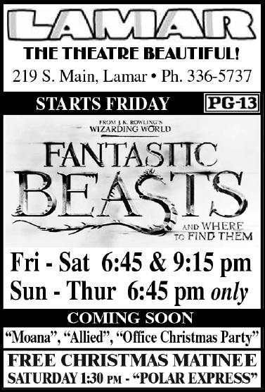 Lamar Theatre Ad - December 9, 2016