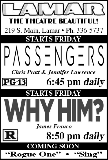 Lamar Theatre Ad - January 6, 2017