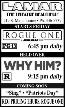 Lamar Theatre Ad - January 17, 2017