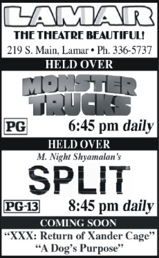 Lamar Theatre Ad - February 10, 2017