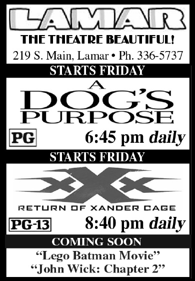 Lamar Theatre Ad - February 17, 2017