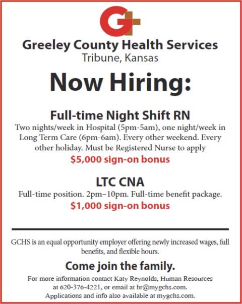 ADV - Greeley County Health Services - Full-tiem Night Shift RN
