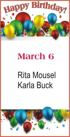 Happy Birthday to Mousel Buck