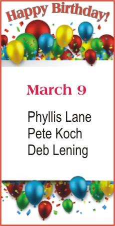 Happy Birthday to Lane Koch Lening