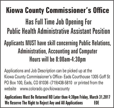 ADV - Kiowa County Public Health