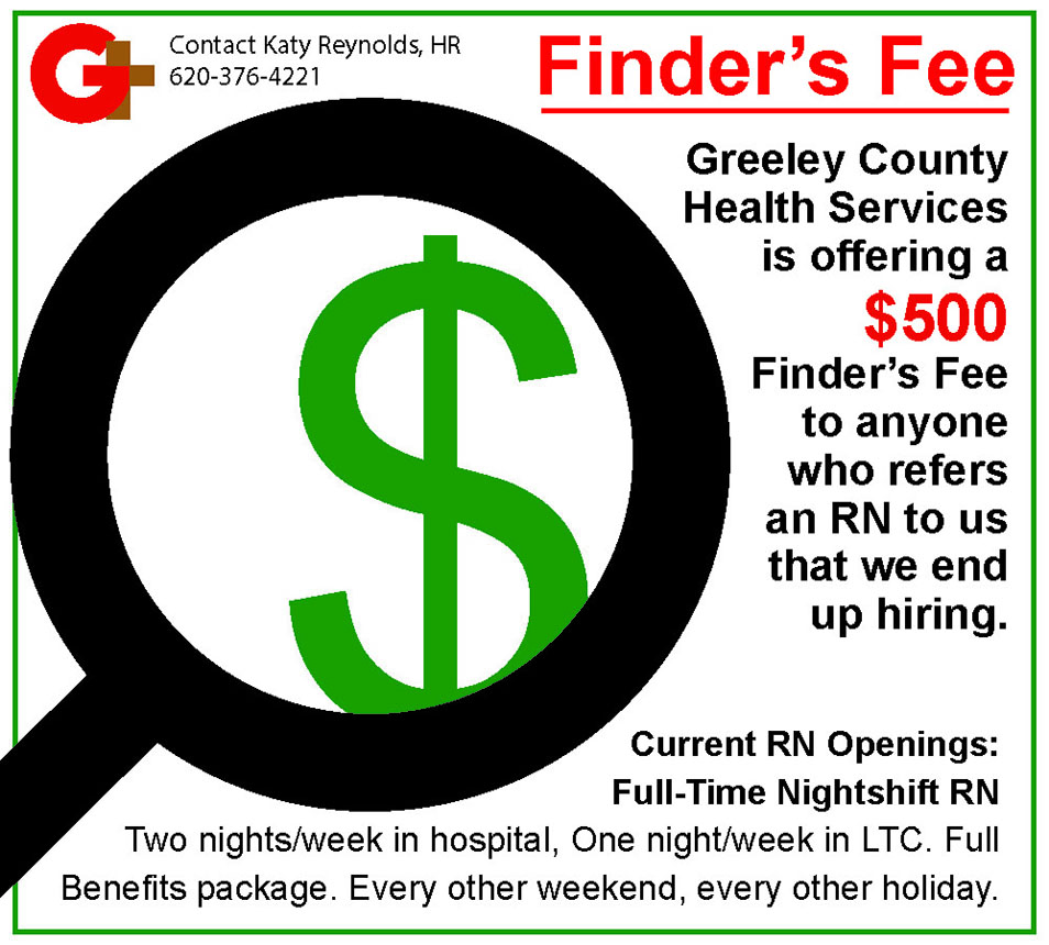 ADV - Greeley County Health Services - Finders Fee