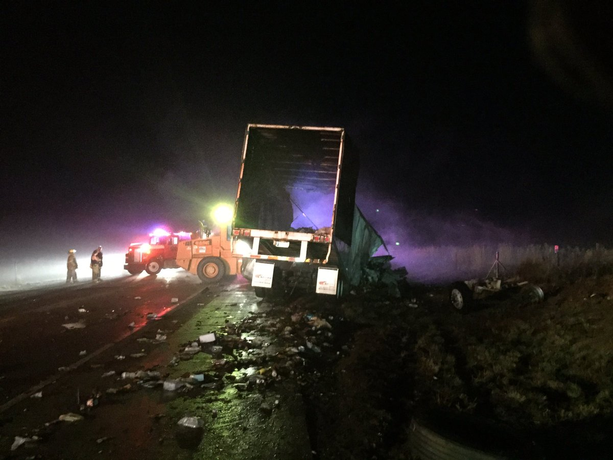 PICT - Damaged Semi - Highway 287 - CSP Photo