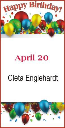 Happy Birthday to Englehardt