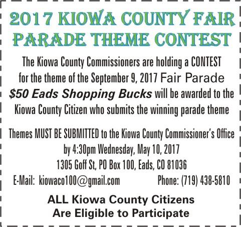 ADV - Kiowa County Fair Theme Contest