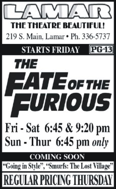 Lamar Theatre Ad - May 5, 2017