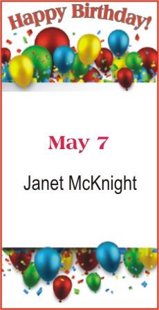 Happy Birthday to McKnight