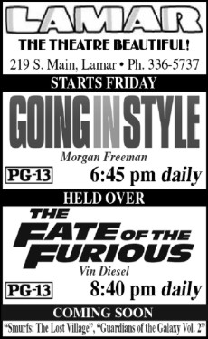 Lamar Theatre Ad - May 12, 2017