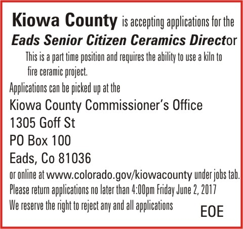 ADV - Kiowa County Ceramics Director