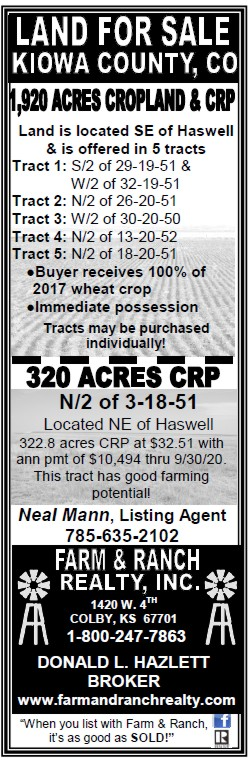 ADV - Farm & Ranch Realty - 2017-05-19 - Kiowa County