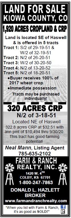 ADV - Farm & Ranch Realty - 2017-05-19 - Kiowa County
