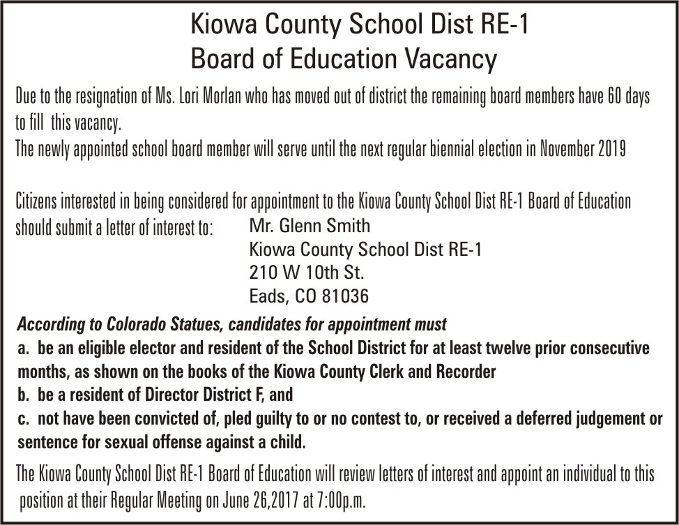 ADV School Board Vacancy