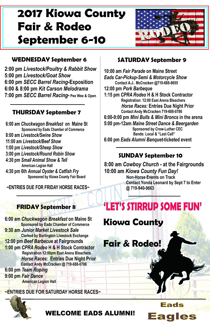 ADV - Kiowa County Fair & Rodeo Poster