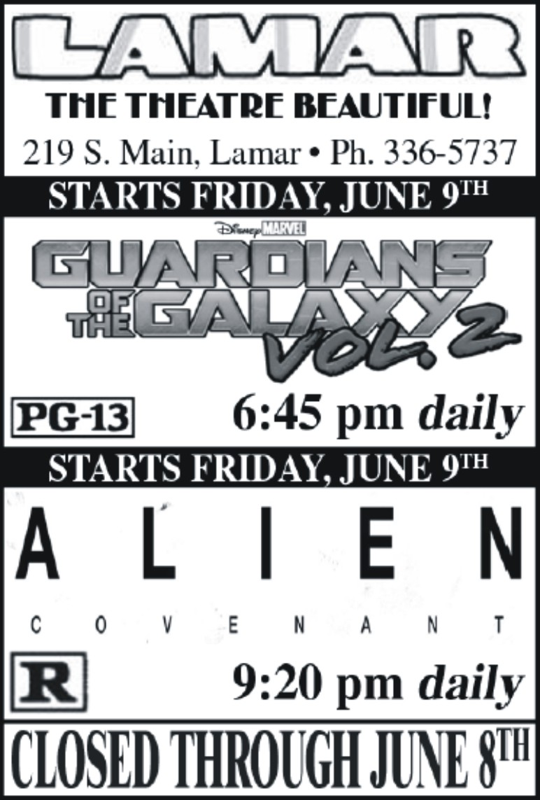 Lamar Theatre Ad - June 2, 2017