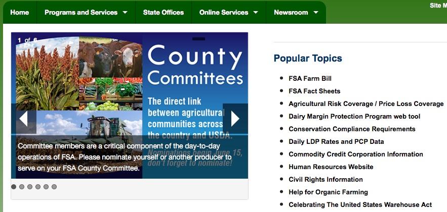 PICT - USDA FSA Web Site Clip
