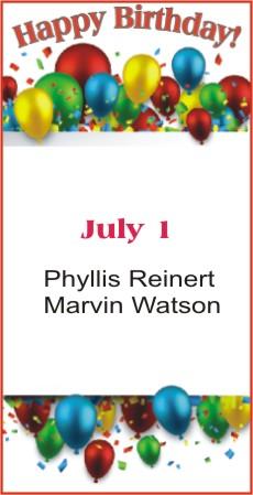 Happy Birthday to Reinert Watson