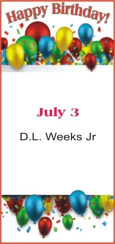 Happy Birthday to Weeks