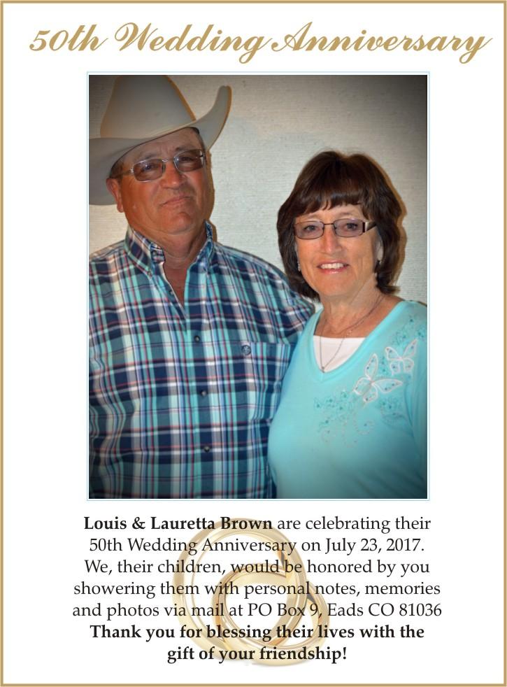 Anniversary - Louis & Lauretta Brown