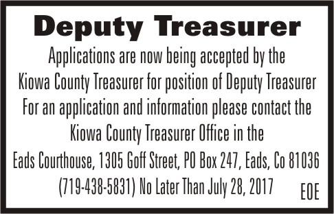 ADV - Hiring Deputy Treasurer