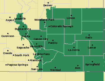 Weather Outlook - July 29, 2017 - Southeast Colorado Flash Flood Watch