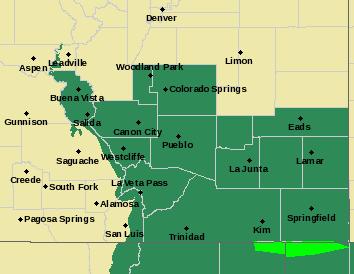 Weather - Southeast Colorado Flash Flood Watch - July 30, 2017