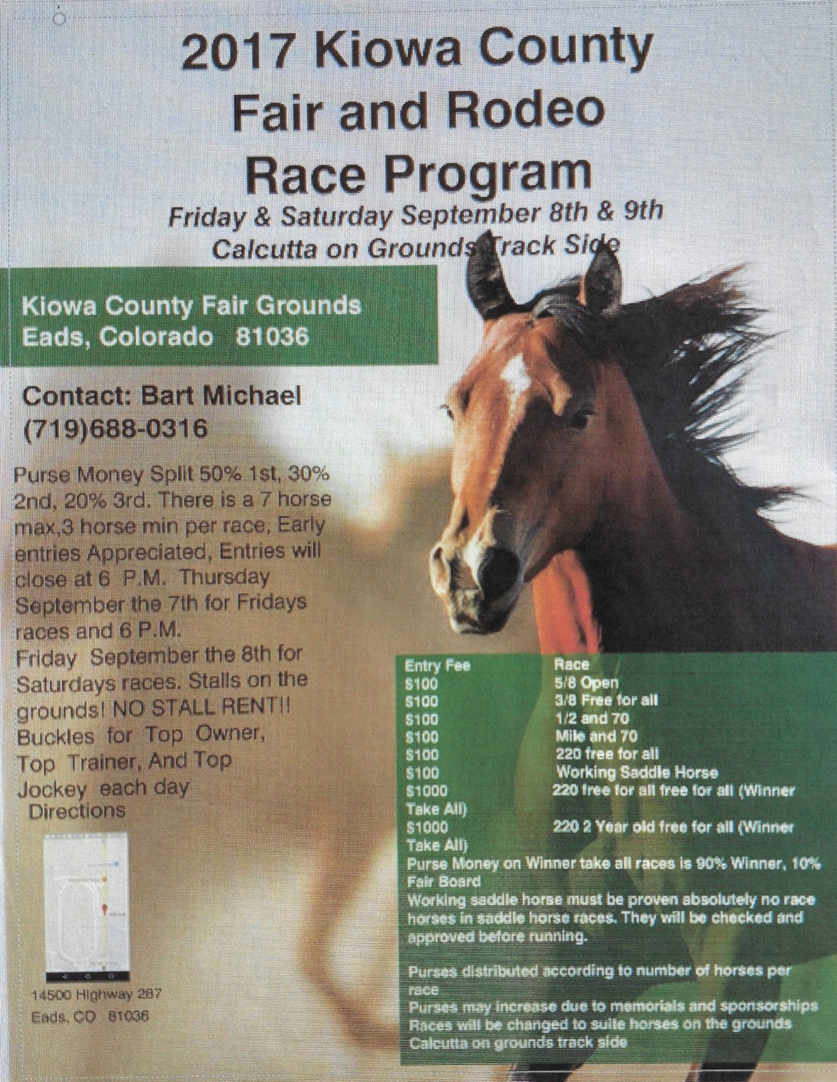 ADV - Horse Racing at the 2017 Kiowa County Fair